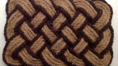 cara membuat keset kaki dari sabut kelapa